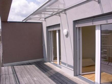 Neuwertig, 2 Schlafzimmer, 24m² großer Balkon, Lift, Tiefgarage