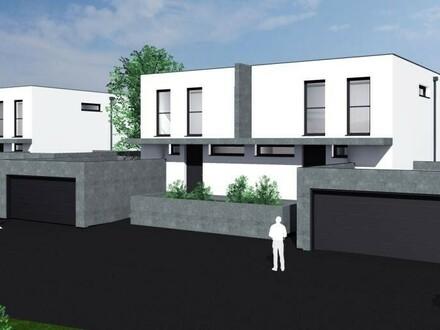 Exklusiver Neubau eines Doppelhauses
