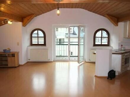 Wohnzimmer mit intergrierter Küche