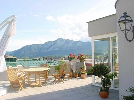 Elegante Wohnung mit XXL-Dachterrasse und sensationellem Panoramablick
