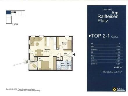 Wohnen im Multifunktionshaus Hartkirchen TOP2-1 Typ4