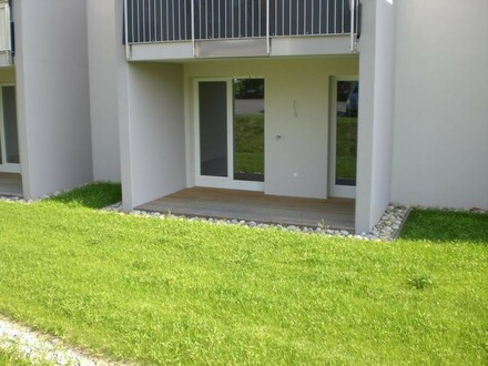 Neuwertige Erdgeschoßwohnung mit Garten zu mieten