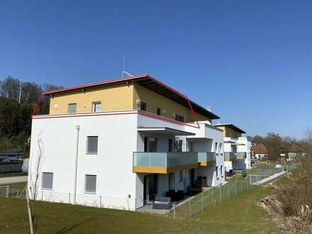 Wohnen am Jakobsweg! Dachterrassenwohnung mit Ausblick ins Grüne