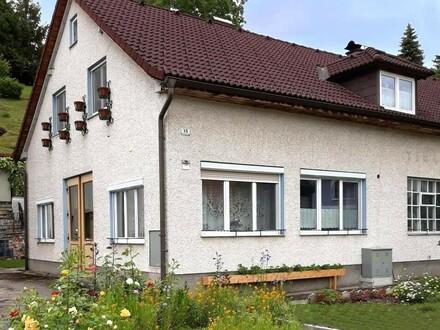 Großfamilienhaus mit Gartenpavillon, Werkstatt und Scheune