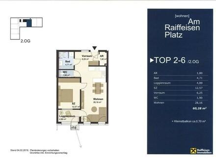 """Wohnen """"Am Raiffeisen Platz"""" TOP2-6 Typ2"""
