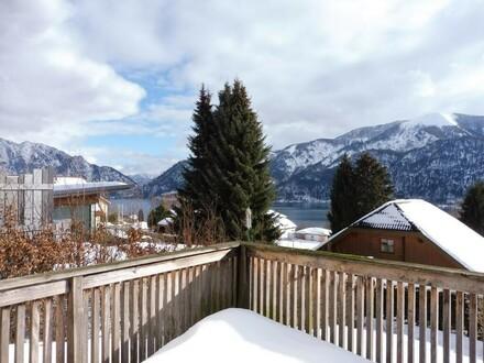 Doppelhaushälfte mit fantastischem See- und Gebirgsblick in sonniger und ruhiger Aussichtslage