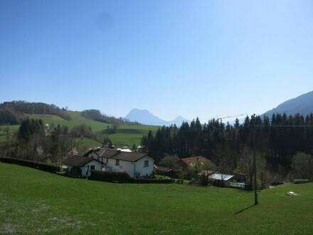 Baugrundstück in ländlicher Aussichtslage mit Traunsteinblick