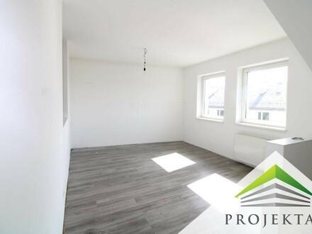 Schöne 2 Zimmer DG-Wohnung mit neuer Küche und Terrasse in zentraler Lage! Günstige Parkplätze im Innenhof!