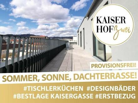 PENTHOUSE KAISERHOF 2 | ALL-INCLUSIVE WOHNEN! 3 Zimmer mit großer Terrasse zum ERSTBEZUG - PROVISIONSFREI | 360° Rundgang…