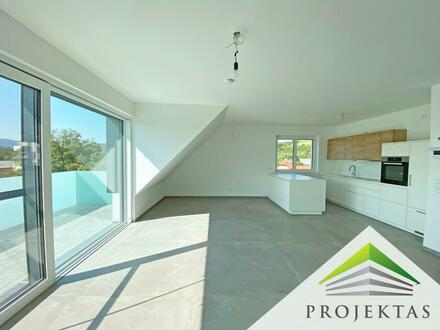 Klimatisierte 3 Zimmer-Neubauwohnung im DG mit Küche & Balkon in Linz-Katzbach! Parkplatz inklusive!