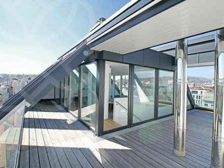 PALAIS LUSTENAU - Design-Penthouse mit atemberaubender Dachterrasse | 360° Rundgang!
