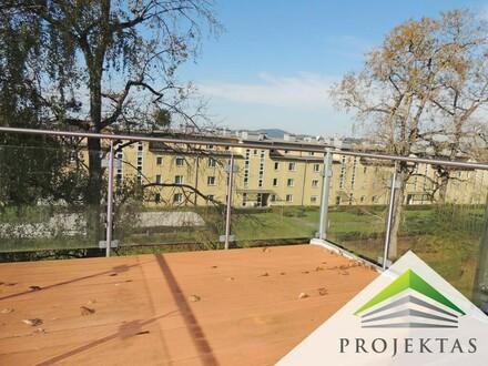 5 Zimmer Dachgeschoßwohnung mit 9 m² Terrasse am Bindermichl!