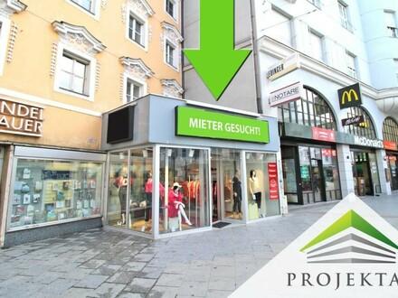 LANDSTRASSE 1: Einmaliges Geschäftslokal über zwei Ebenen direkt am Linzer Taubenmarkt