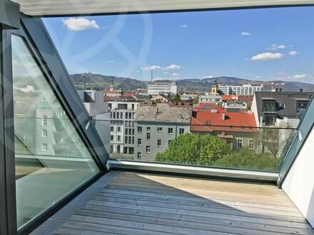 PALAIS LUSTENAU - Design-Penthouse mit atemberaubender Dachterrasse! | 360° Rundgang online!