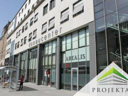 Galerielokal im Donaucenter Linz mit Empfangsbereich im Erdgeschoss!