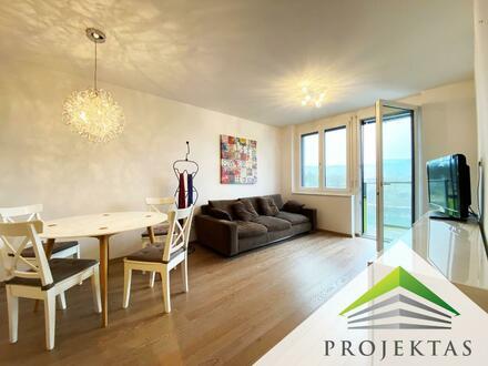 Vollmöblierte 2 Zimmerwohnung mit Balkon und optionalem Tiefgaragen-Parkplatz