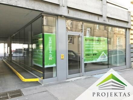 Ihr Geschäftslokal mit großer Auslagenfront in unmittelbarer Nähe zur Landstraße!