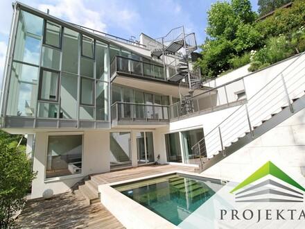 Spektakuläre Designer-Villa in stadtnaher Ruhelage! 360° Rundgang online!