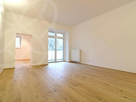 360° Rundgang online! PALAIS LUSTENAU - Generalsanierte 2 Zimmer-Altbauwohnung mit großer Loggia