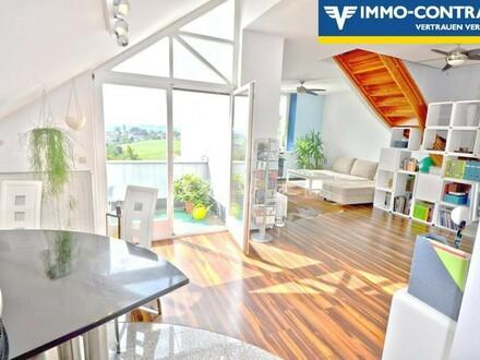 Traumhafter Ausblick und Ruhelage - Terrassenwohnung in grüner Ruhelage