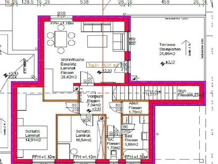 3 Zimmer Neubau - Mietwohnung mit 25m² Terrasse