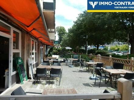 Restaurant mit Gastgarten in stark frequentierter Lage