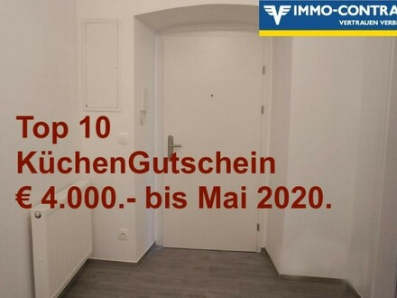 Erstbezug nach Sanierung - Großzügige 1-2 ZimmerWohnung mit kleinen Extras. Generalsaniertes Stadthaus, Top 10