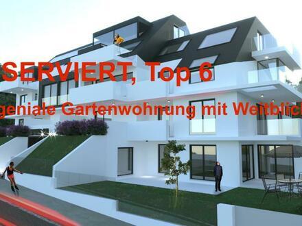 (RESERVIERT) am BergBlick 19 - Garten im 2.Stock & mit WeitBlick über die Donau - geniale Wohnung - Top 6