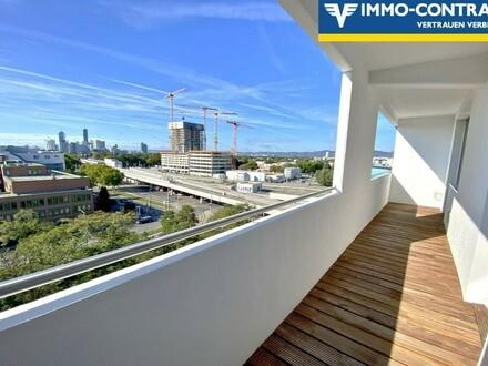 U1 Kagran - Helle 2 Zimmer Loggia-Wohnung mit Traumblick über Wien !