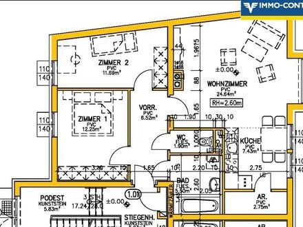 Plan der tollen 3 Zimmer Wohnung