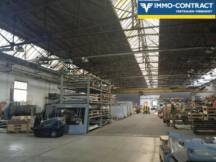 Super Lage an der A2 - große Lager- Produktions- und Freiflächen mit Bürohaus
