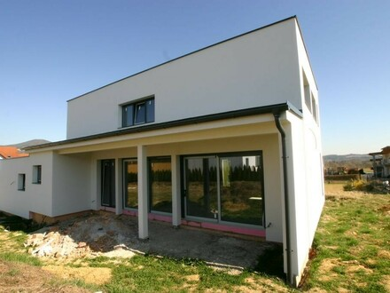 Fassade mit der Terrasse
