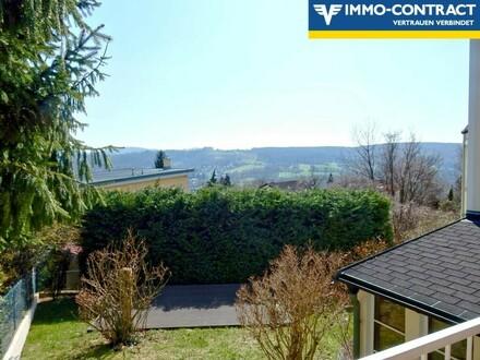 ÖLBERG Traumhafte Doppelhaushälfte mit 2 Terrassen, Garten, Wintergarten und Carport