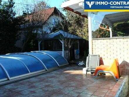 5 min nach Wien- Bungalow mit großen Pool
