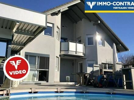 Herrliche Aussichtslage mit Pool, Außensauna, zwei Terrassen und ganztägig sonnigem Garten