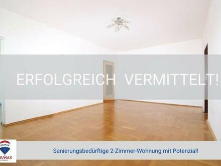 Hoch hinaus - Gut geschnittene 2 Zimmer Wohnung mit Potential