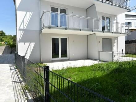 Ansicht Wohnung mit Garten