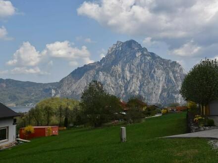 Grundstück am Mühlbachberg mit Traunsteinblick