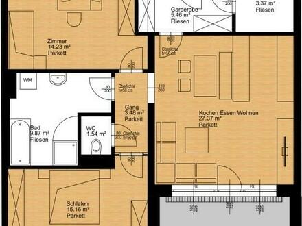 Großzügige 3-Zimmer-Neubauwohnung