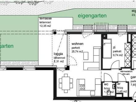 Grundriss Variante 3-Zimmer