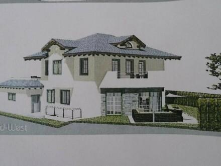 Nächst Mondsee: 1-2-Familienhaus-Rohbau in sonniger, ruhiger Panoramalage