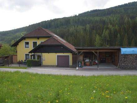 Sehr gepflegtes Einfamilienhaus mit Werkstatt nahe Tamsweg.