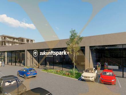 ZUKUNFTSPARK+ | Verkaufs-/Geschäfts-/Schauraumflächen in Tulln zu vermieten - Adaptierung nach Mieterwunsch! Erweiterun…