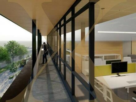 ZUKUNFTSPARK+ | Penthouse-Büro samt Balkon - nach Ihren Wünschen gestaltbar - in Tulln zu vermieten - Erweiterungsmögli…