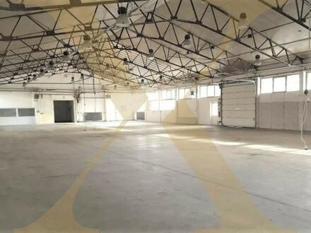 Beheizte und ebenerdige Lager-/Produktionshalle mit 2 Rolltoren und Bürofläche in Gunskirchen/Wels zu vermieten