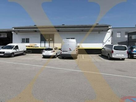 Lagerhalle mit Falttor, Lastenlift, Freifläche sowie anmietbarem Büroteil in Linz-Wegscheid zu vermieten