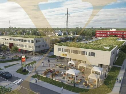 Geschäfts-/ Handelsflächen von 28m² bis 1.400m² im Stadtteilzentrum St. Dionysen/Traun (STZ Traun) zu vermieten
