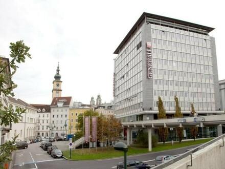 Modernes Büro in bester Innenstadtlage und Blick auf die Donau