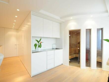 Luxus-Wohnung mit Wellnessoase + große Terrasse, in BESTLAGE mit Aussicht auf St. Ulrich; komplett möbliert - zum Sofortbezug!