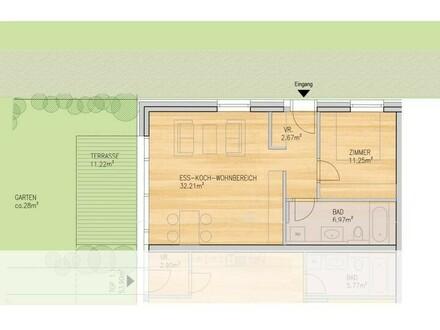 2-Zimmer Wohnung mit Gartenanteil Top 2.2